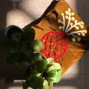 Cojín bordado. Um projeto de Ilustração, Artesanato, Bordado, Costura, Ilustração têxtil, Tecido, DIY e Macramê de Fátima Ordinola - 09.07.2021