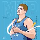 Illustration Nikola Jokic 2020/21 NBA MVP. A Illustration project by Simone Colasante - 07.10.2021