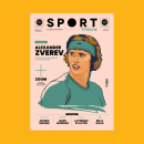 Sport Tribune - Cover & cover story first issue - Editorial Illustration. A Illustration, Creative Consulting, Vector Illustration, and Printing project by Simone Colasante - 07.10.2021