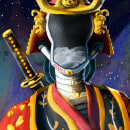 Samurai Galactico. Un proyecto de Ilustración y Concept Art de Simon Fuquen - 13.07.2021