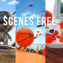 FREE SCENES OCTANE RENDER by Oscar creativo. A Design, Illustration, Advertising, 3D, 3D Animation, 3d modeling, 3D Character Design, and Design 3D project by Oscar Creativo - 07.14.2021