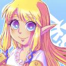 Zelda - TLOZ:SS. Un progetto di Design, Illustrazione, Disegno, Illustrazione digitale, Videogiochi, Illustrazione infantile, Disegno digitale , e Disegno manga di srta_acuarela - 14.07.2021