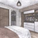 Dormitorio. Un proyecto de Diseño de interiores, Arquitectura interior y Arquitectura de Barbara Lopez Lovera - 14.07.2021