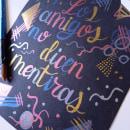 Mi Proyecto del curso: Lettering con acuarelas metálicas. Un proyecto de Lettering, Pintura a la acuarela, H y lettering de Rebeca Molina - 16.07.2021