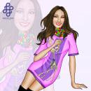 Purple Nitro. Un proyecto de Diseño, Ilustración, Moda, Bellas Artes, Diseño gráfico, Ilustración vectorial, Dibujo, Diseño de moda, Diseño de moda, Fotografía de moda, Ilustración de retrato, Concept Art, Ilustración textil, Dibujo digital y Pintura digital de Mackleyn Abril - 22.05.1999