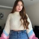Hygge CropSweater (Crochet: crea prendas con una sola aguja). Un proyecto de Moda, Diseño de moda, Tejido, DIY y Crochet de Mariana Almazzi - 22.07.2021