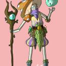 mushroom warlock. Un proyecto de Ilustración y Diseño de personajes de nicola lucerni - 24.07.2021