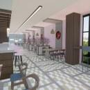 MOCHI RESTAURANT - By Gabriela Amell. Um projeto de Instalações, Arquitetura de interiores, Design de interiores, Interiores e Design de espaços comerciais de Gabriela Amell - 26.07.2021