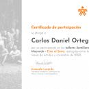 Certificado de participación_ Talleres Semillero Macondo. Um projeto de Cinema, Vídeo e TV de Carlos Daniel Ortega Herrera - 27.07.2021