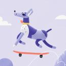 """Course """"Loop Animation with Mixed Illustration Techniques """". Um projeto de Ilustração, Motion Graphics, 3D, Direção de arte, Animação 2D e Animação 3D de Itsacat&Goodog - 27.07.2021"""