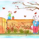 Mi Proyecto del curso: Ilustración en acuarela con influencia japonesa. Um projeto de Ilustração, Desenho e Pintura em aquarela de Cintia Cueva Coral - 02.08.2021