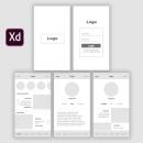 Wireframe Red Social Creativa. Un proyecto de UI / UX, Diseño Web, Diseño mobile y Diseño digital de María Novoa - 03.08.2021