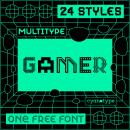 MultiType Gamer (ONE FREE FONT). Un proyecto de Tipografía y Diseño tipográfico de Damián Guerrero Cortés - 30.07.2021