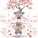 Ghost of Tsushima. PlayStation Latinoamérica. Un projet de Illustration de Flor Kaneshiro - 05.08.2020