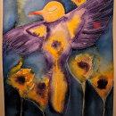 Pájaras entre flores . Un proyecto de Ilustración, Pintura a la acuarela, Ilustración infantil e Ilustración con tinta de Brenda Oliva - 09.08.2021
