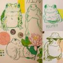 Introducing myself with my recent frog doodles . Un proyecto de Ilustración, Bocetado, Creatividad, Dibujo y Sketchbook de Deniz - 07.08.2021