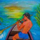 Balsero. Um projeto de Pintura e Pintura a óleo de Julián Alberto Hernández Aranzazu - 16.08.2021