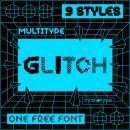 MultiType Glitch. Un proyecto de Tipografía y Diseño tipográfico de Damián Guerrero Cortés - 25.08.2021