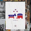 Vote 2008 Poster Series. Um projeto de Design, Ilustração e Publicidade de Sujatha Moraes - 20.08.2021