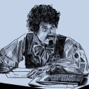 DISEÑO GRÁFICO Y EDITORIAL (POEMAS A LA FUGA). A Design, Illustration, Advertising, Editorial Design, Fine Art, Graphic Design, Portrait Drawing, and Realistic drawing project by Ahinara Santos Bernal - 08.20.2021