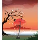 Mi Proyecto del curso: Crepusculo en Japón. Um projeto de Ilustração, Ilustração vetorial e Ilustração digital de Rodrigo Alonso Vega Saavedra - 28.08.2021