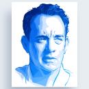 Tom Hanks Portrait. Un progetto di Illustrazione, Illustrazione digitale, Illustrazione di ritratto , e Disegno digitale di Alessandra Stanga - 30.08.2021
