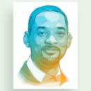 Will Smith Portrait. Un progetto di Illustrazione, Pubblicità, Illustrazione digitale, Illustrazione di ritratto , e Disegno digitale di Alessandra Stanga - 30.08.2021