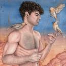 SOUNDS OF HEAVEN. Um projeto de Ilustração, Artes plásticas, Pintura, Pintura em aquarela e Ilustração de retrato de Alex Vigo - 31.08.2021