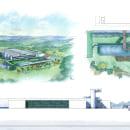 Prancha de Arquitetura em Lápis de Cor. Um projeto de Design, Ilustração, Arquitetura e Desenho de Eduardo Bajzek - 02.09.2021