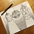 Mi Proyecto del curso: Técnicas de dibujo técnico para representación tridimensional. Um projeto de Design industrial, Design de produtos, Esboçado, Desenho, Desenho realista e Ilustração com tinta de Rodrigo Chávez Heres - 03.09.2021