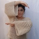 Blusa REDE. Um projeto de Crochê e Design de vestuário de Beatriz M. de Oliveira - 06.09.2021