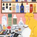 """Vogue """"shelfie"""". Um projeto de Ilustração, Ilustração editorial e Pintura guache de Julia Bereciartu - 07.09.2021"""