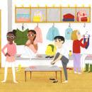 Welcome to Ballet School. Um projeto de Ilustração, Ilustração infantil, Ilustração editorial e Pintura guache de Julia Bereciartu - 07.09.2021