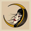 """Ilustración creada para impresión en serigrafía titulada """"La luna sabe lo que por ti lloré"""". A Illustration project by Iván Hernández Acevedo - 03.18.2021"""