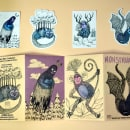 Mi Proyecto del curso: Laboratorio de fanzines y autopublicación. Un proyecto de Ilustración, Diseño de personajes, Diseño editorial, Papercraft, Creatividad, Dibujo, Ilustración infantil, Sketchbook, Ilustración con tinta e Ilustración editorial de Viridiana Benitez Mendoza - 14.09.2021