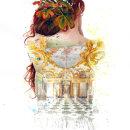 Golden Greed. A Illustration, Interior Architecture, Pencil drawing, Portrait illustration, Portrait Drawing, Realistic drawing, and Artistic drawing project by Mentiradeloro Esther Cuesta - 09.15.2021