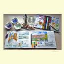 Pontevedra: pueblos y villas. Mi Proyecto del curso: Cuaderno de viaje en acuarela. A Illustration, Watercolor Painting, Architectural illustration, and Sketchbook project by Loli Crespo - 09.18.2021