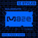 MultiType Maze (ONE FREE FONT). Un proyecto de Tipografía y Diseño tipográfico de Damián Guerrero Cortés - 21.09.2021