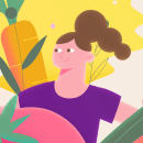A bocados. A Illustration, Motion Graphics, Animation, Design von Figuren, Animation von Figuren, Vektorillustration und 2-D-Animation project by Kitxune - 30.08.2021