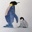 """Ilustración de """"pingüino emperador"""" . Um projeto de Ilustração de Monica Jazmin Guardamino Salvador - 26.09.2021"""