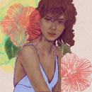 Mon projet du cours : Portrait illustré avec Procreate. Un proyecto de Ilustración, Ilustración vectorial, Ilustración digital, Ilustración de retrato y Dibujo de Retrato de domihoco - 28.09.2021