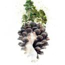 """""""Serendipity"""" (Pine forest of Valsaín). Um projeto de Ilustração, Paisagismo, Desenho a lápis, Pintura em aquarela e Ilustração de retrato de Mentiradeloro Esther Cuesta - 01.10.2021"""