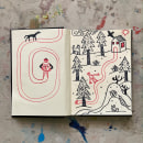 31 days 31 drawings 2021. Um projeto de Ilustração de Pau Masiques - 01.08.2021
