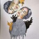 Mi Proyecto del curso: Retrato ilustrado en acuarela. Un proyecto de Ilustración, Bellas Artes, Pintura, Dibujo, Pintura a la acuarela, Ilustración de retrato, Dibujo de Retrato y Dibujo artístico de Karla Gabriela Medellín Castellanos - 11.10.2021