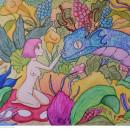 Mi Proyecto del curso: Animalario botánico: acuarela, tinta y grafito. Un proyecto de Ilustración, Bellas Artes, Pintura, Dibujo, Pintura a la acuarela, Ilustración botánica, Ilustración con tinta e Ilustración naturalista de Karla Gabriela Medellín Castellanos - 11.10.2021