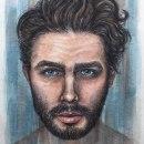 RETRATO MASCULINO CON ACUARELA. Um projeto de Ilustração, Artes plásticas, Pintura, Pintura em aquarela e Ilustração de retrato de Alex Vigo - 12.10.2021