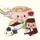 Sushi party. A Illustration project by Lucrezia Lando - 10.18.2021