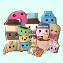 Kawaii breakfast . A Illustration project by Lucrezia Lando - 10.18.2021