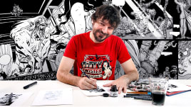 Técnicas de entintado para cómic e ilustración. A Illustration course by Sergio Bleda