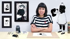 Introducción a la ilustración con tinta china. A Illustration course by Hilda Palafox
